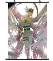4408 Digimon Adventure Angewomon manga anime Home Decor Poster Wall Scroll