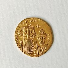 Ancient Byzantine Constants II Gold Solidus Coin Constantinople 641-668 SCARCE
