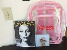 Lady Gaga LOT Collectors Magazine Joanne World Tour VIP Clear Backpack CD