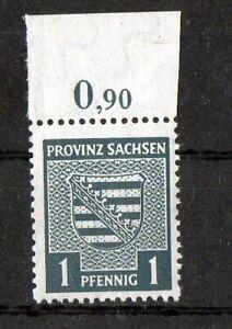 SBZ  Provinz Sachsen 73X Plf II  (Provinzwappen) postfrisch