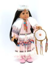 """Doll Clothes AG 18"""" Dress Pink Native American Dream Catcher Fits AG Dolls"""
