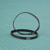2pcs GT2 Timing Belt Annular Loop Gear Rubber 6mm Width 2mm Pitch 130-2GT