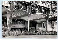The Savoy Hotel Entrance London UK RPPC Vintage Real Photo Postcard D02