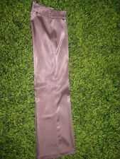 Damen Anzug Hose mit Falte in beige / Braun Gr. 36 Glenzend und geschmeidig