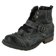 Scarpe nera con fibbia per bambini dai 2 ai 16 anni