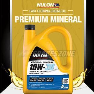 Nulon Mineral 10W-30 Engine Oil 5L for Holden Commodore Calais Omega VE VZ Viva