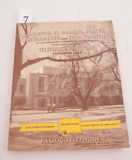 Amador El Dorado Placer Pac Tel 1958 Directory Phone Book (D3L-7) Yellow Pages