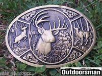 ✖  Buck in woods ✖ Scenic Belt Buckle Buck ✖ Deer Bronze color nice gift USA