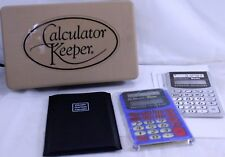 Calculator Keeper The Educator Basic Overhead Calculator, Manual + Case T1-108