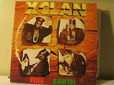 "X Clan, fire & earth,12"",33 RPM,1991 PolyGram,POLYDOR"