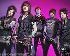 """Falling In Reverse band Reprint Signed 8x10"""" Photo #1 RP by ALL 5 Members Radke"""
