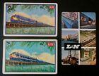 3 Louisville-Nashville RR Train VTG Swap Playing Cards-Humming Bird-Dixie Line