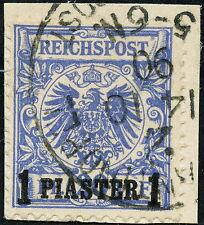 481) DPT Nr. 8 a Bs. gepr., 1 PIA auf 20 Pfg. sauber gestempelt auf Kab,-Bfst.!!