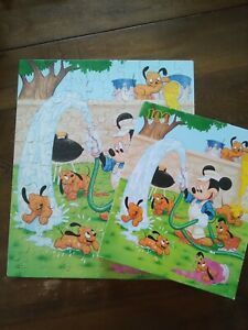 Vintage 1980's? Mickeys stuff for Kids 100 pc puzzle Parker Brothers Disney VG