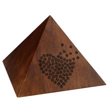 One of a kind Pyramid Cremation Urn for Pet ashes Peaceful Memorial Keepsake Urn