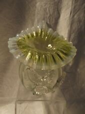 Victorian Hand Blown Uranium Jack in the Pulpit Vase