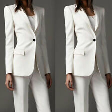 Women Ladies Business Office Suits Style Work Wear Tuxedos White Formal Wear