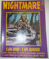 Nightmare Magazine I Am Dead And Bored April 1973 021315R2