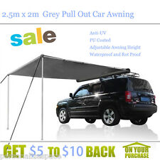 2.5m x 2m  Grey Pull Out Car Awning Outdoor Living Tent & Shades Canopies