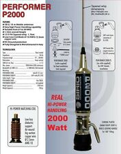 Sirio Performer 2000 Pl 10m & Cb Mobile Antenna (2000 watts) - Slick Design!