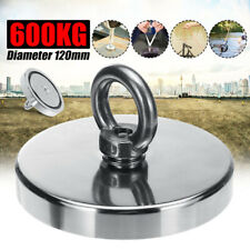 120mm Hook Strong Magnetic 600KG Pull Force Metal Recovery Magnet Fishing
