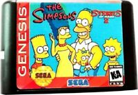 The Simpsons In Streets Of Rage 2 16 Bit Game Card For Sega Genesis System