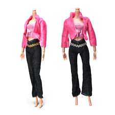 3Pcs/set Fashion Handmade Coat Pant Vest for Barbie Doll Best Gift Toys CE