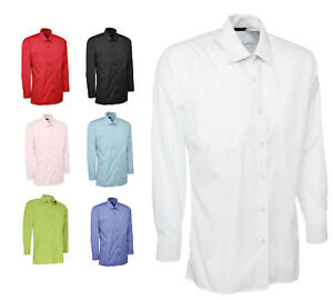 Mens Classic Long Sleeve Easy Care Formal Shirts - WORK CASUAL & OFFICE SHIRT