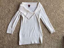 2B Bebe White Soft Studded Sweater Small