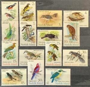 Norfolk Islands. Definitive Bird Stamp Set. SG103/17. 1970-71. MNH. #ETS151.