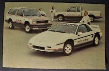 1984 Pontiac Fiero Pace Car GMC S-15 Jimmy & Pickup Postcard Brochure Original