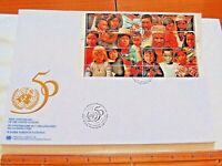 "10-24 1995 In Commemoration Of 50th Anniversary ""United Nations"" First Day Issue"