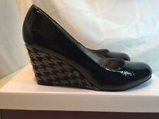 0a52e356eee Lotus Women s Sascha Black Faux Leather Wedge HEELS UK Size 5 EU 38