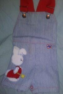 Vtg Danny Dare Boys Rabbit Bunny Vintage Coveralls Overalls Sz 12 Months?