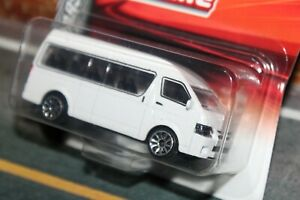 New 1:64 Toyota Hiace in pearl white by Majorette. MIB and rare item.