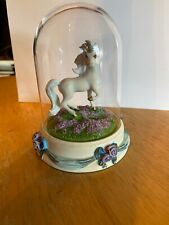 rainbow of love unicorn figurine with globe by the Franklin Mint