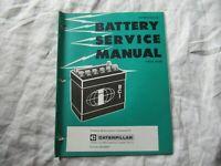Caterpillar tractor battery service manual 1976