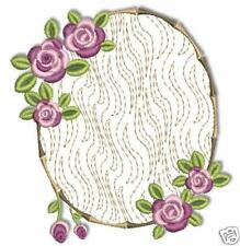 Lacy Rose Floral Machine Embroidery Designs 4x4 CD