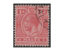 MALTA stamps, 1914 KING GEORGE V, 1penny carmine SG.73 used (F43)