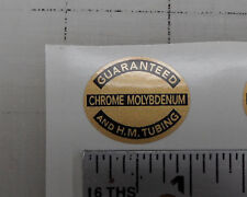 Raleigh  Chrome Molybdenum oval bicycle decal