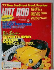 HOT ROD MAGAZINE VINTAGE 1976 OCTOBER VW BETTLE BUG CHEVY FORD MOPAR GM RACING