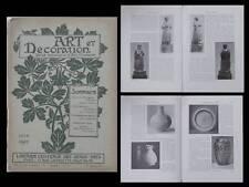 ART ET DECORATION 06 1912  GASTON LE BOURGEOIS, ARTS DECORATIFS, SCULPTURE