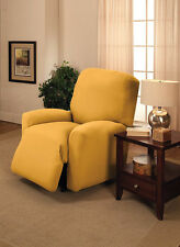 "JERSEY RECLINER COVER-LAZY BOY ---YELLOW---  FITS MOST CHAIRS --""WASHABLE""--"