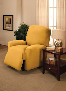 """DON'T PASS UP""    JERSEY ""YELLOW"" RECLINER COVER-LAZY BOY--9 SOLIDS & 3 PRINTS"