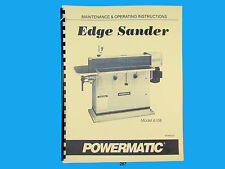 Powermatic  Model 6108 Edge Sander Instruction & Parts List Manual *267