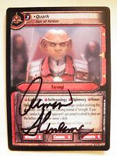 Autographed  2E  Quark, Son of Keldar  (Armin Shimerman)