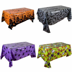 Halloween Plastic Tablecloth Rectangle Dinner Table Cloth Cover Party Home Decor