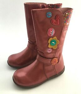 Agatha Ruiz de la Prada  toddler girls leather boot US 7-7.5