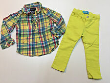 Toddler Girl Fall Winter Outfit Old Navy Pants & Ralph Lauren Top Size 2T