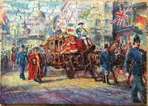 Boxed vintage Chad Valley 200 piece plywood jigsaw 'Lord Mayor's Show'